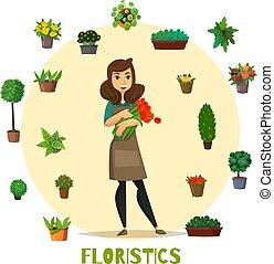 Florists Concept Set