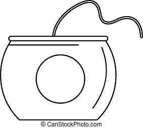 Floss box icon, outline style