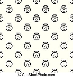 Floss open box pattern seamless vector