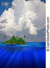 flotar, isla