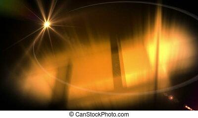 flotter, étoile, en mouvement, animation, lumière, sombre,...