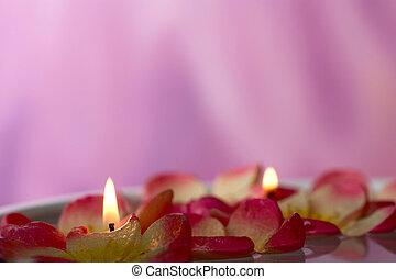 flotter, bougies
