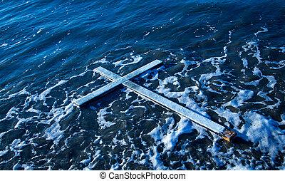 flotter, croix