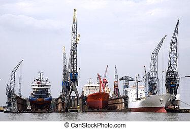 flotter, dock