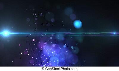 flotter, en mouvement, animation, fond foncé, particules,...