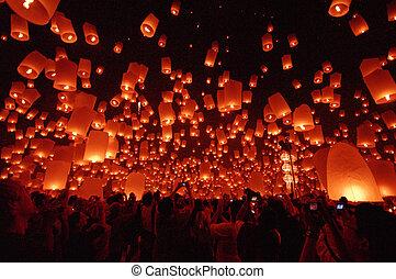 flotter, lanterne