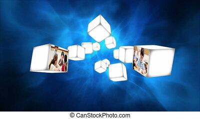 flotteur, classe, vidéo, cubes