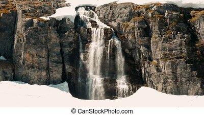 Flotvatnet Waterfall, Norway - Cinematic Style