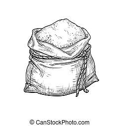 flour., 袋