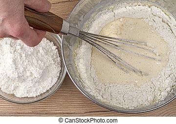 Flour and dough
