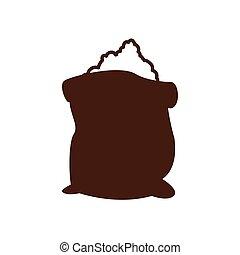 flour bag icon. Bakery supply design. Vector graphic