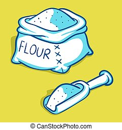 Flour bag illustration