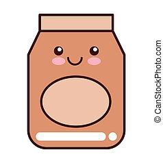 flour bag isolated icon