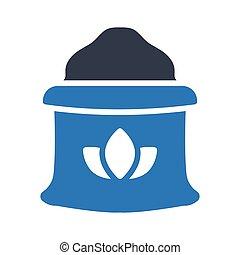 flour glyph color vector icon