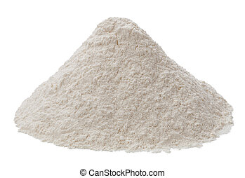 Flour isolated on a white background