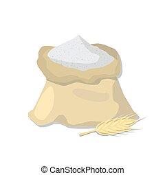 Flour sack and wheat ear