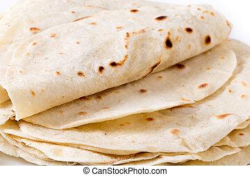Flour tortilla closeup