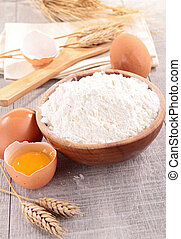 flour with ingredients
