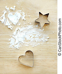 Flour with star and heart shape