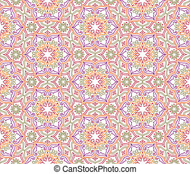 Flourish mosaic tiled pattern. Floral oriental ethnic background