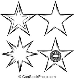 Flourish Star Set - An image of a flourish star set.