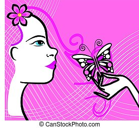 flourishes, mulher, 3