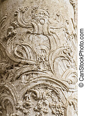 flourishes, ornaments and sculptures of Gothic style, Spanish Ancient Art