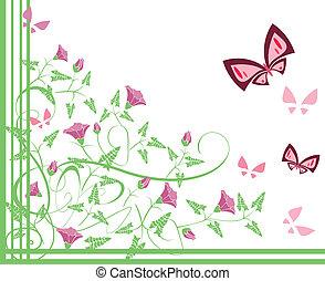 flourishes, vlinders