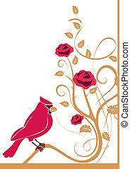 Flourishes with bird