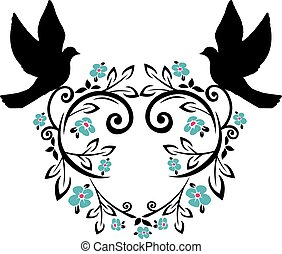 flourishes with doves 2