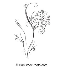 Flover sketch hand drawings - Flover, sketch, hand drawings...
