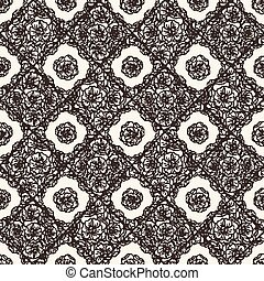 Flover wallpaper in the style of Art Nouveau. Seamless ...