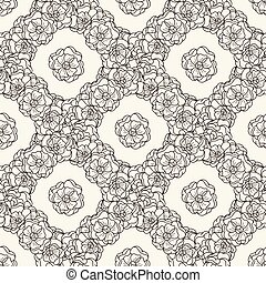 Flover wallpaper in the style of Art Nouveau.