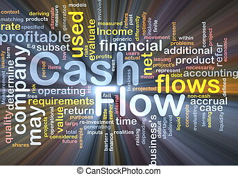 Flow cash background concept glowing