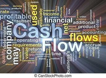 Flow cash background concept glowing - Background concept...