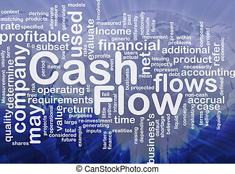 Flow cash is bone background concept