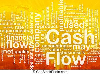 Flow cash is bone background concept - Background concept...