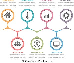 Flow Chart Template - Flow chart template with icons and...