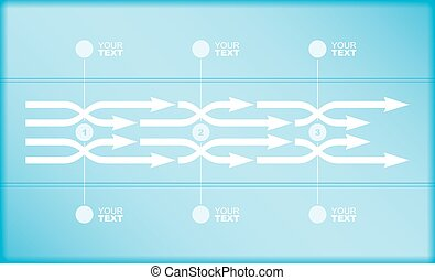 Flow chart - Vector flow chart template, with arrows
