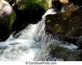 flow - I took a fast flowing stream by slow motion.