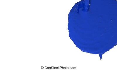 flow of blue fluid fills the screen in slow motion