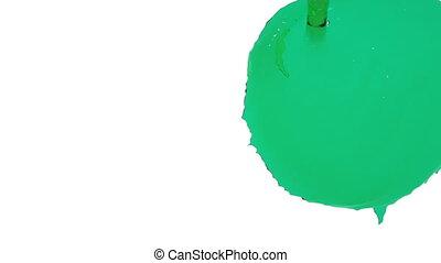 flow of green fluid fills the screen. clear liquid