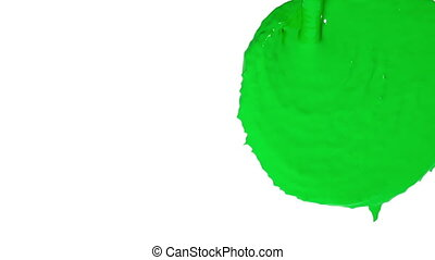 flow of green fluid fills the screen