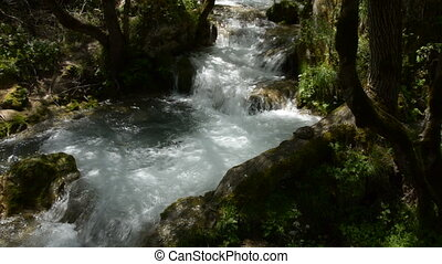 Flow of Swift Mountain River Create - Fast mountain river...