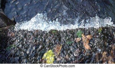 Flow of water falls down