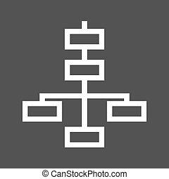Flowchart - Chart, flowchart, structure icon vector image. ...