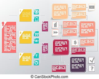 Flowchart elements different arrows
