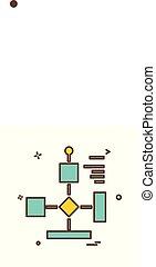 Flowchart icon design vector