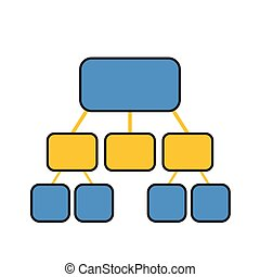 flowchart template in blue and yellow