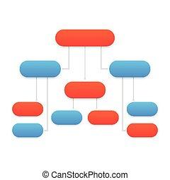 flowchart template, modern design